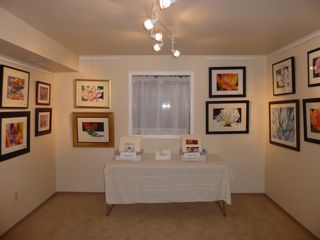 My gallery set up for Boulder's Open Studios Tour